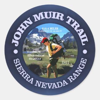 John Muir Trail (Hiker C) Classic Round Sticker