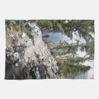 John Muir Trail Hiker - Sierra Nevada Mountains Kitchen Towels