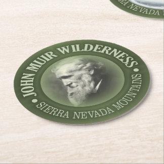 John Muir Wilderness Round Paper Coaster