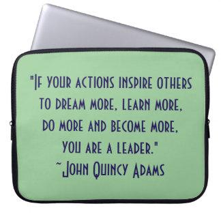 John Quincy Adams Leadership Quote Laptop Sleeve