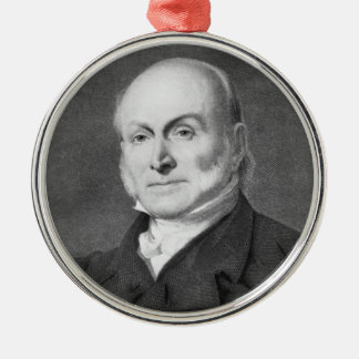 John Quincy Adams Metal Ornament