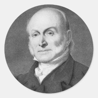 John Quincy Adams Round Sticker