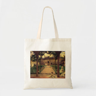 John Sargent- At Torre Galli. Ladies in a Garden Tote Bag