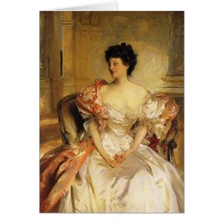 John Sargent- Cora, Countess of Strafford Card