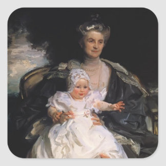 John Sargent- Mrs. Henry Phipps and Her Granson Square Sticker