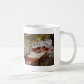 John Sargent- Two Women Asleep in a Punt Mug