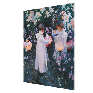 John Sargent Vintage Carnation Lily Lily Rose Canvas Print