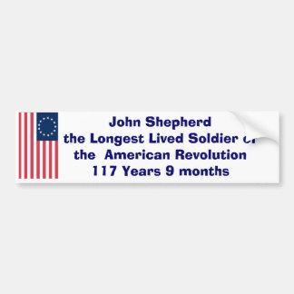 John Sherherd - 117yrs. Bumper Sticker