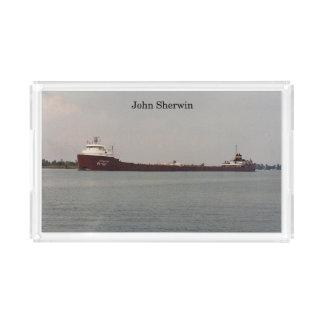 John Sherwin acrylic tray