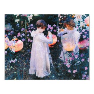 "John Singer Sargent Carnation Lily Lily Rose 4.25"" X 5.5"" Invitation Card"