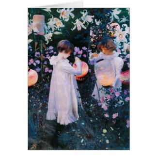 John Singer Sargent Carnation Lily Lily Rose Greeting Card