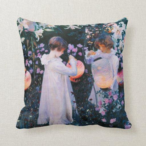 John Singer Sargent Carnation Lily Lily Rose Pillows