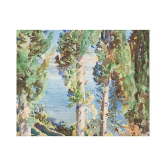 John Singer Sargent - Corfu - Cypresses Canvas Prints