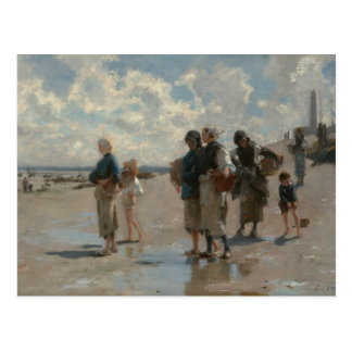 John Singer Sargent - Fishing for Oysters Postcard