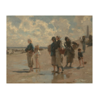 John Singer Sargent - Fishing for Oysters Wood Canvases