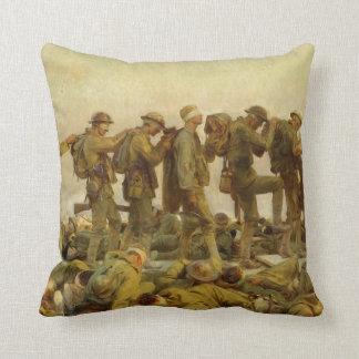 John Singer Sargent - Gassed Throw Pillow