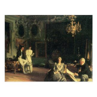 John Singer Sargent - Interior in Venice Postcard
