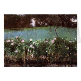 John Singer Sargent- Landscape with Rose Trellis Card