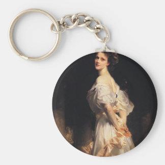 John Singer Sargent - Nancy Astor - Fine Art Keychain