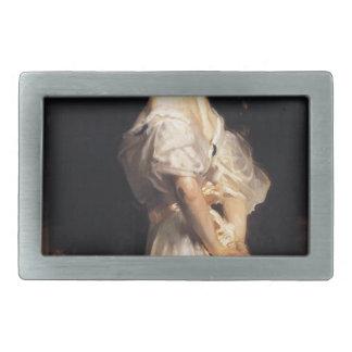 John Singer Sargent - Nancy Astor - Fine Art Rectangular Belt Buckles