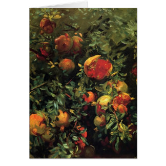 John Singer Sargent- Pomegranates, Majorca Card