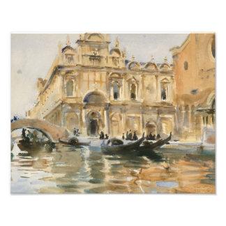 John Singer Sargent - Rio dei Mendicanti, Venice Art Photo