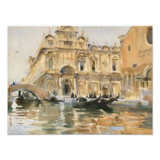 John Singer Sargent - Rio dei Mendicanti, Venice Photographic Print