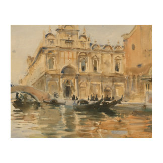 John Singer Sargent - Rio dei Mendicanti, Venice Wood Prints