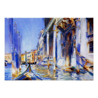 John Singer Sargent Rio dell'Angelo Venice Poster