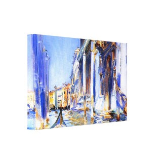 John Singer Sargent Rio dell'Angelo Venice Stretched Canvas Prints