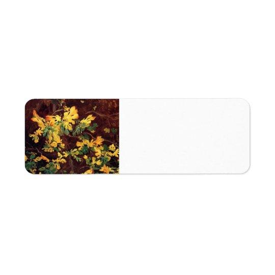 John Singer Sargent- Study of a Fig Tree Return Address Label