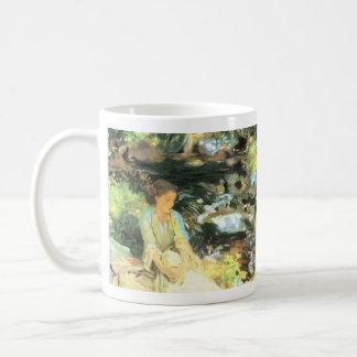 John Singer Sargent - The black creek Basic White Mug