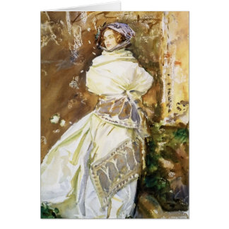 John Singer Sargent: The Cashmere Shawl Greeting Card