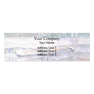 John Singer Sargent: The Fence Business Card Template