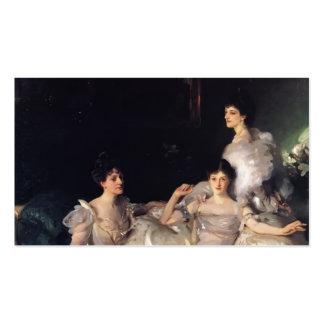 John Singer Sargent- The Wyndham Sisters Business Card