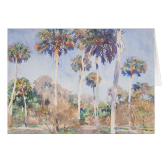 John Singer Sargent Watercolor - Palms Card