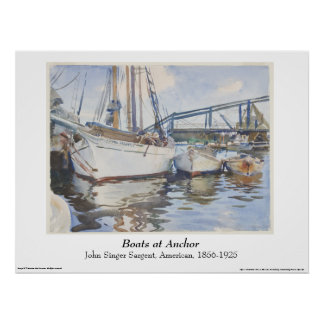 John Singer Sargent Watercolor - Seascape Poster