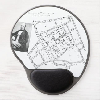 John Snow Epidemiology map Gel Mouse Pad