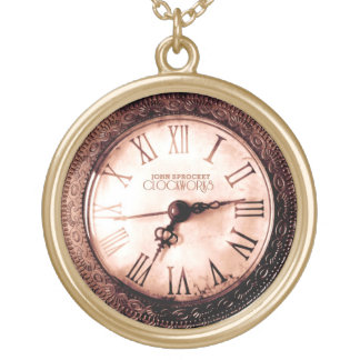 John Sprocket clockworks faux watch Necklace