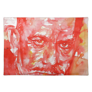JOHN STEINBECK - watercolor portrait Placemat
