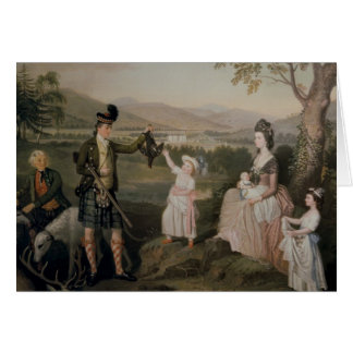 John, the 4th Duke of Atholl and his family Card