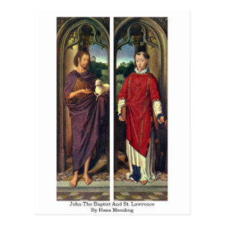 John The Baptist And St. Lawrence By Hans Memling Postcard