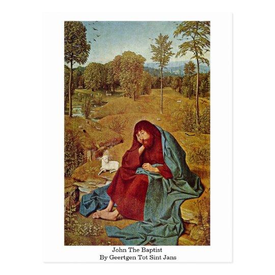 John The Baptist By Geertgen Tot Sint Jans Postcard