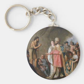 John the Baptist Preaching Basic Round Button Keychain