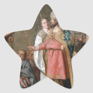 John the Baptist Preaching Star Sticker