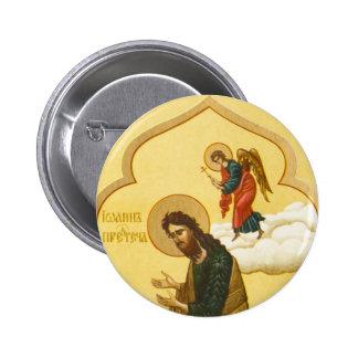 John the Baptist Russian icon 2 Inch Round Button