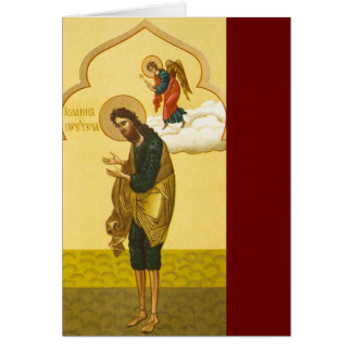 John the Baptist Russian icon Card