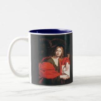John the Evangelist Two-Tone Coffee Mug