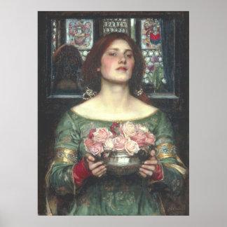 John W Waterhouse - Gather Ye Rosebuds (1908) Poster