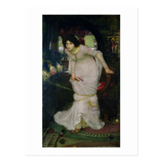 John W Waterhouse - The Lady Of Shallot (1894) Postcard